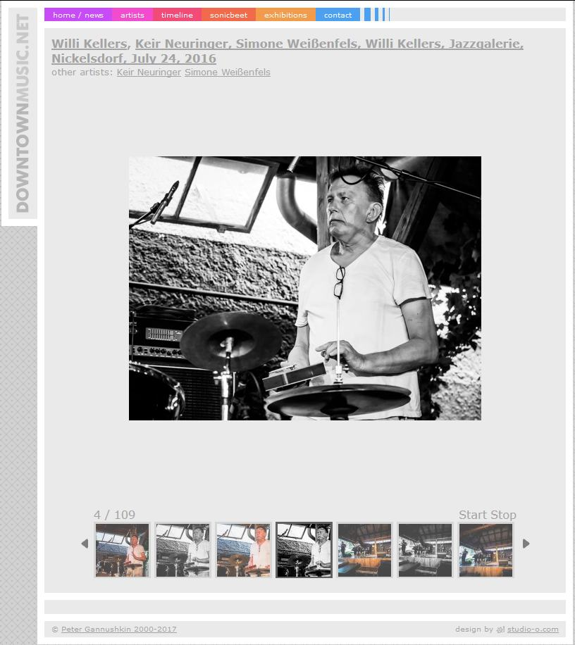 Willi Kellers in der Jazzgalerie Nickelsdorf / Juli 2016